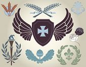 stock photo of taupe  - Crest and heraldry - JPG