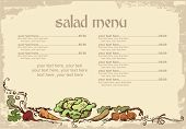 stock photo of eatables  - menu design with vegetables and place for text - JPG
