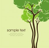 pic of planting trees  - card with stylized tree and text - JPG