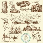 stock photo of hand drawn  - outdoor collection - JPG