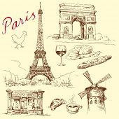 image of hand drawn  - Paris  - JPG