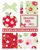 Pretty apple patterns. Use to print onto fabric for home baking or as backgrounds or other decor pro