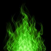 Chemical fire and flame background