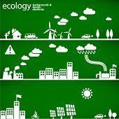 sustainable development concept - ecology backgrounds & elements // see also others from this series