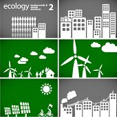 sustainable development concept - ecology backgrounds & elements 2 // see also others from this seri