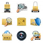 stock photo of export  - Distribution and shipping icons  - JPG