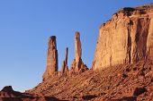 Closeup Of Three Sisters Mesa, Monument Valley, Navajo Nation poster