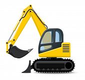 picture of power-shovel  - Excavator - JPG