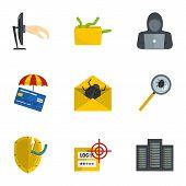 Secret Password Icons Set. Cartoon Set Of 9 Secret Password Icons For Web Isolated On White Backgrou poster