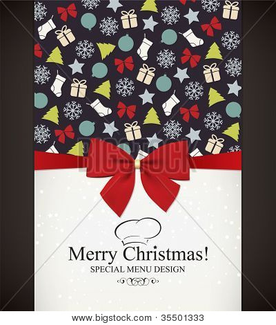Special Christmas menu design