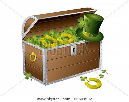 St Patrick day treasure chest