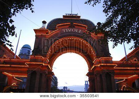 Entrance To Tivoli Amusement Park