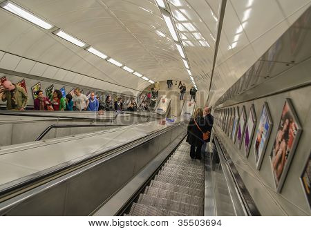 Escalator At London Underground