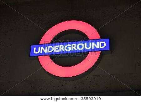 Underground Sign London