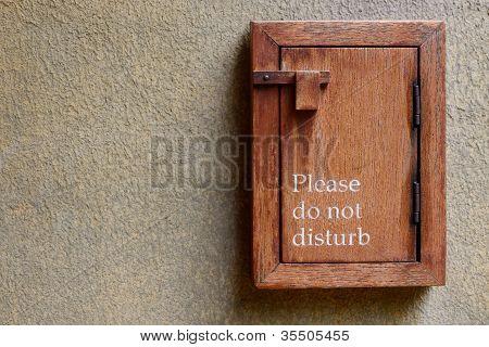 Bitte nicht stören Sie Schild