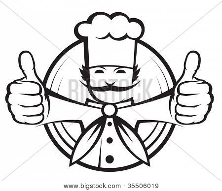 chef with a big mustache