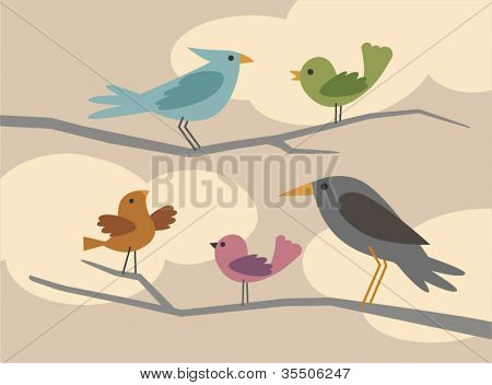 vector bird set 3