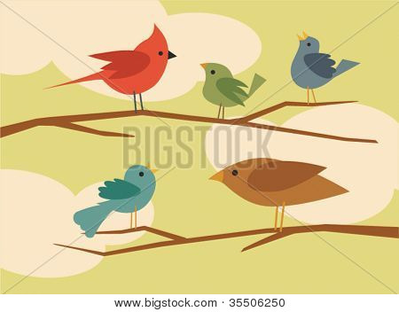 vector bird set 1