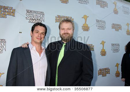 LOS ANGELES - JUL 26:  Glenn Mazzara, Robert Kirkman arrives at the 2012 Saturn Awards at Castaways on July 26, 2012 in Burbank, CA