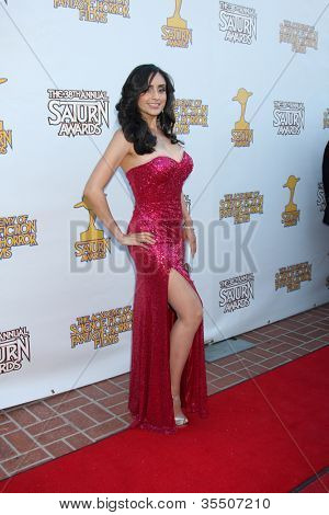 LOS ANGELES - JUL 26:  Valerie Perez arrives at the 2012 Saturn Awards at Castaways on July 26, 2012 in Burbank, CA