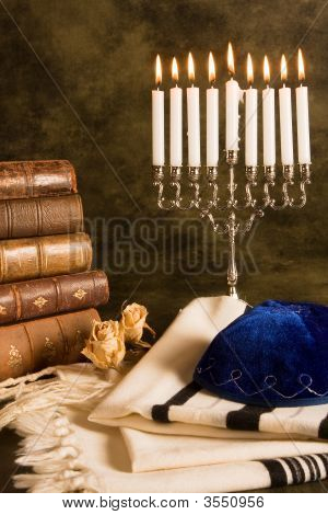 Prayer Shawl And Hanukkah