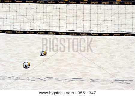 HERMOSA BEACH, CA - JULY 21: The Jose Cuervo Pro Beach Volleyball tournament in Hermosa Beach, CA on July 21, 2012.