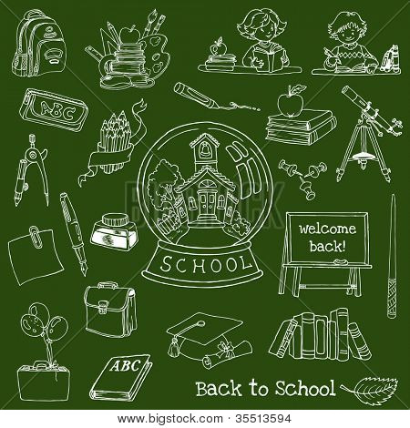 Back to School Doodles - Hand-Drawn Vector Illustration Design Elements (part 2)