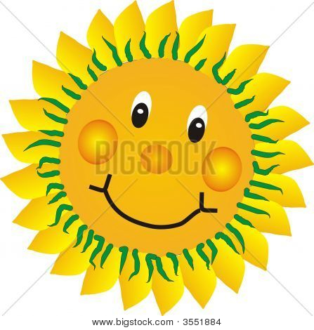 Sunflower Happy And Smiling