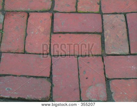 Basket Weave Red Brick Walkway