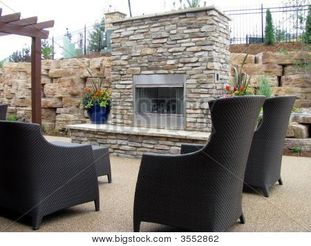 Outdoor Patio Kamin