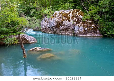 nice river with emerald water