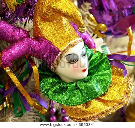 Court Jester Christmas Tree Ornament
