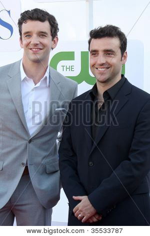 LOS ANGELES - JUL 29:  Michael Urie, David Krumholtz arrives at the CBS, CW, and Showtime 2012 Summer TCA party at Beverly Hilton Hotel Adjacent Parking Lot on July 29, 2012 in Beverly Hills, CA