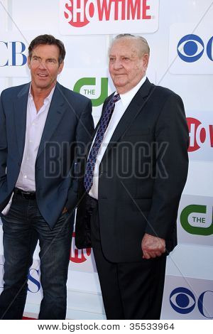 LOS ANGELES - JUL 29:  Dennis Quaid, Ralph Lamb arrives at the CBS, CW, and Showtime 2012 Summer TCA party at Beverly Hilton Hotel Adjacent Parking Lot on July 29, 2012 in Beverly Hills, CA