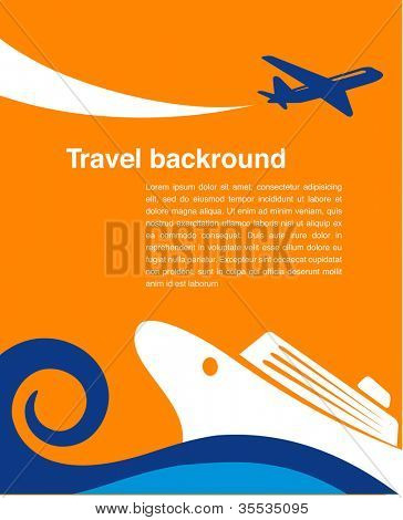 Travel background - cruise and airplane
