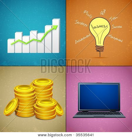 illustration of business concept in collage style