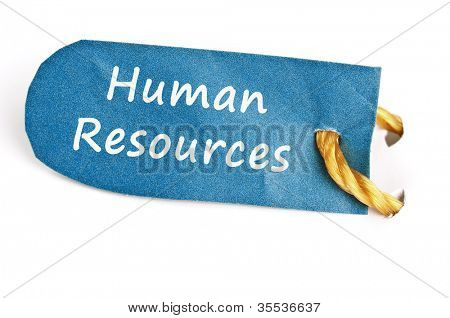 Human Resources word on isolated label
