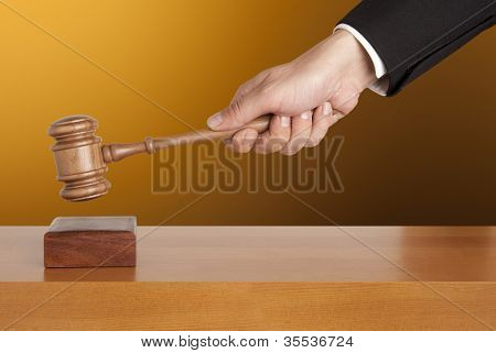 Gavel in hand