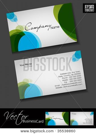 Abstract colorful bright color professional and designer business card template or visiting card set. EPS 10.