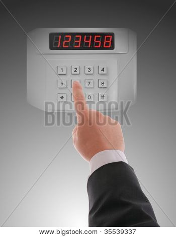 Hand dialling on keypad using touch screen interface