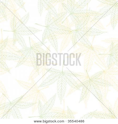 Hemp leaves seamless pattern, vector, EPS8