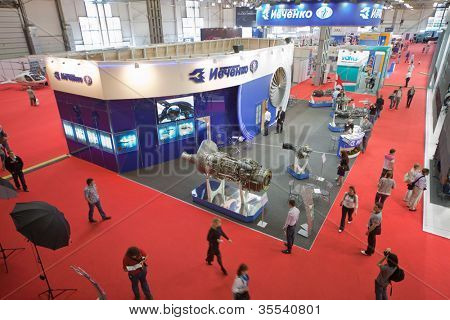 MOSCOW - MAY 21: International exhibition of helicopter industry of Helirussia in Exhibition center Expo Crocus, on May 21, 2011 in Moscow, Russia