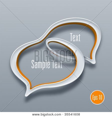 Talk bubble symbol concept. Vector illustration