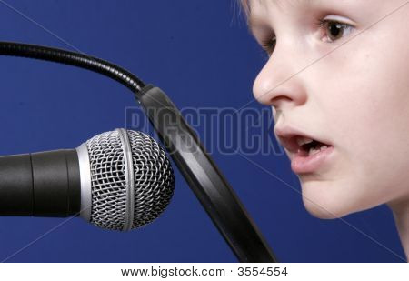 Girl With Microphone