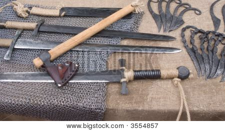 Swords And Battle Axes