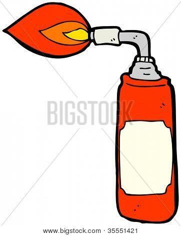 cartoon blowtorch