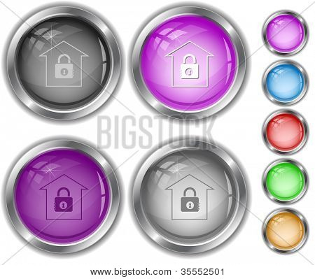 Bank. Raster internet buttons. Vector version is in portfolio.