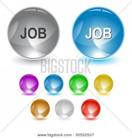 Job. Raster interface element. Vector version is in portfolio.