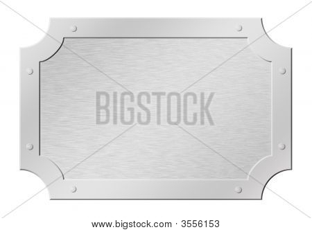 Brushed Silver Framed Tablet Cutout