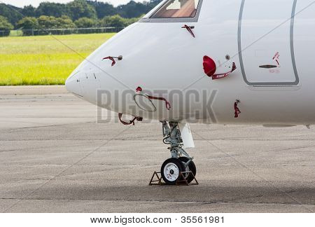 Nose Wheel Of A Jet Aircraft